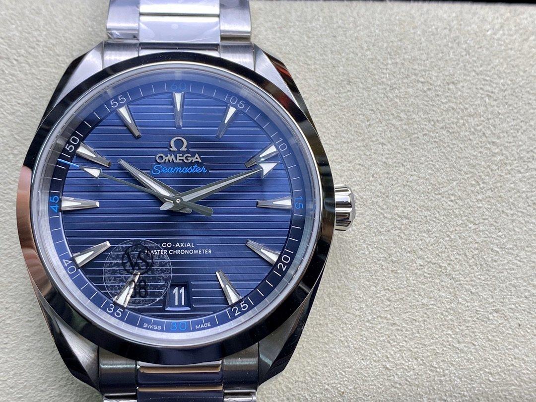 """VS廠手錶仿表歐米茄OMEGA海馬150M""""柚木""""橫紋盤高仿表,N廠手錶"""