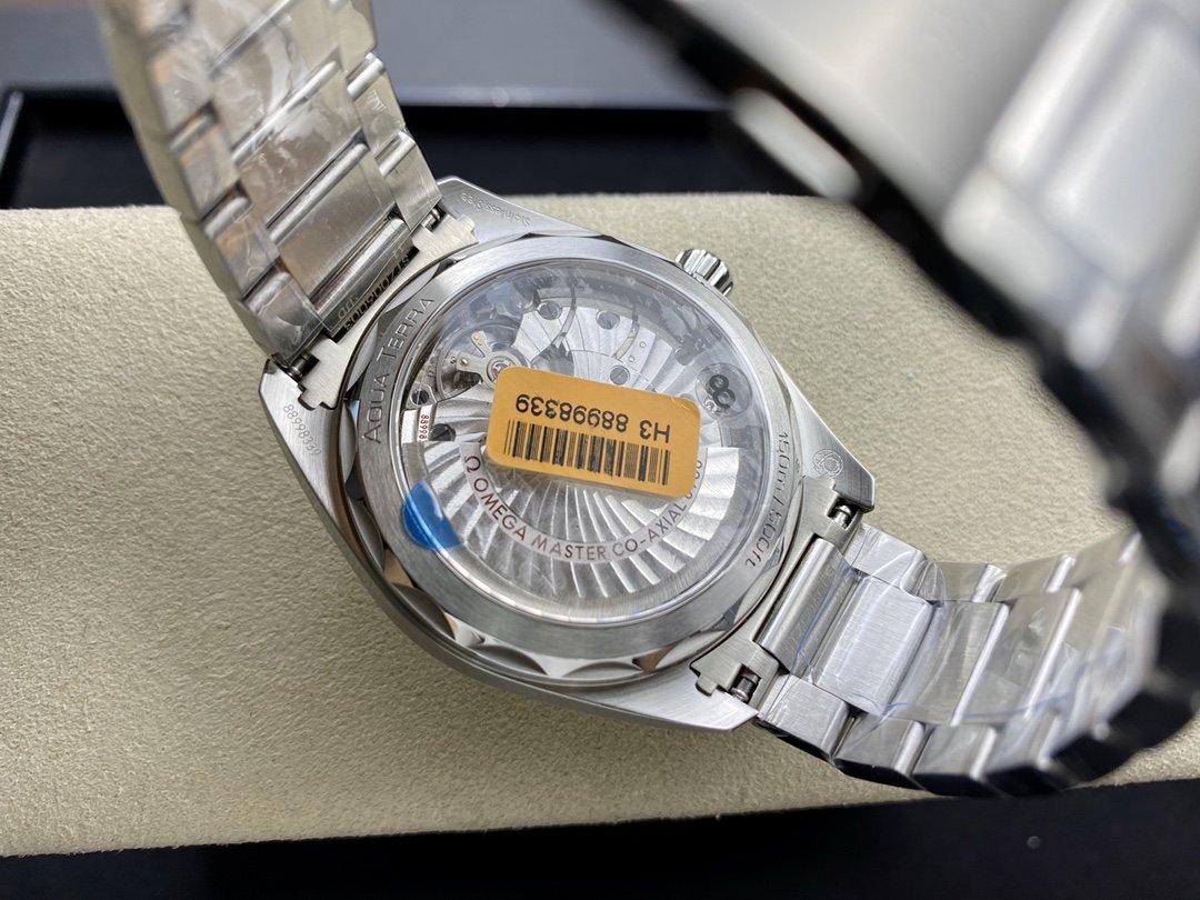 VS廠手錶仿表歐米茄海馬柚木橫紋盤150米高仿表,N廠手錶