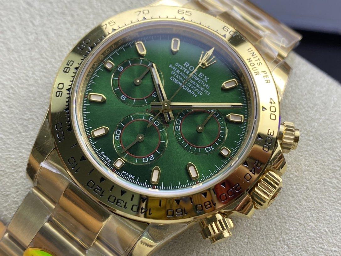 N廠手錶仿表勞力士ROLEX金綠迪迪通拿4130機芯複刻手錶,N廠手錶