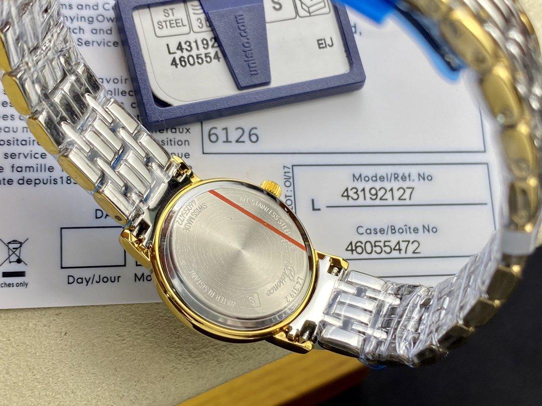 浪琴瑰麗系列石英情侶腕表男裝直徑40mm/女裝直徑24mm,N廠手錶