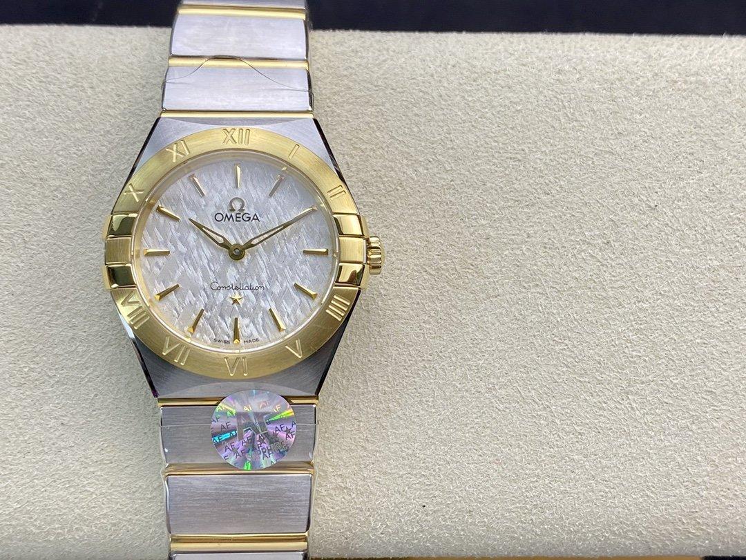 仿表歐米茄星座系列28mm石英腕表AF廠手錶,N廠手錶