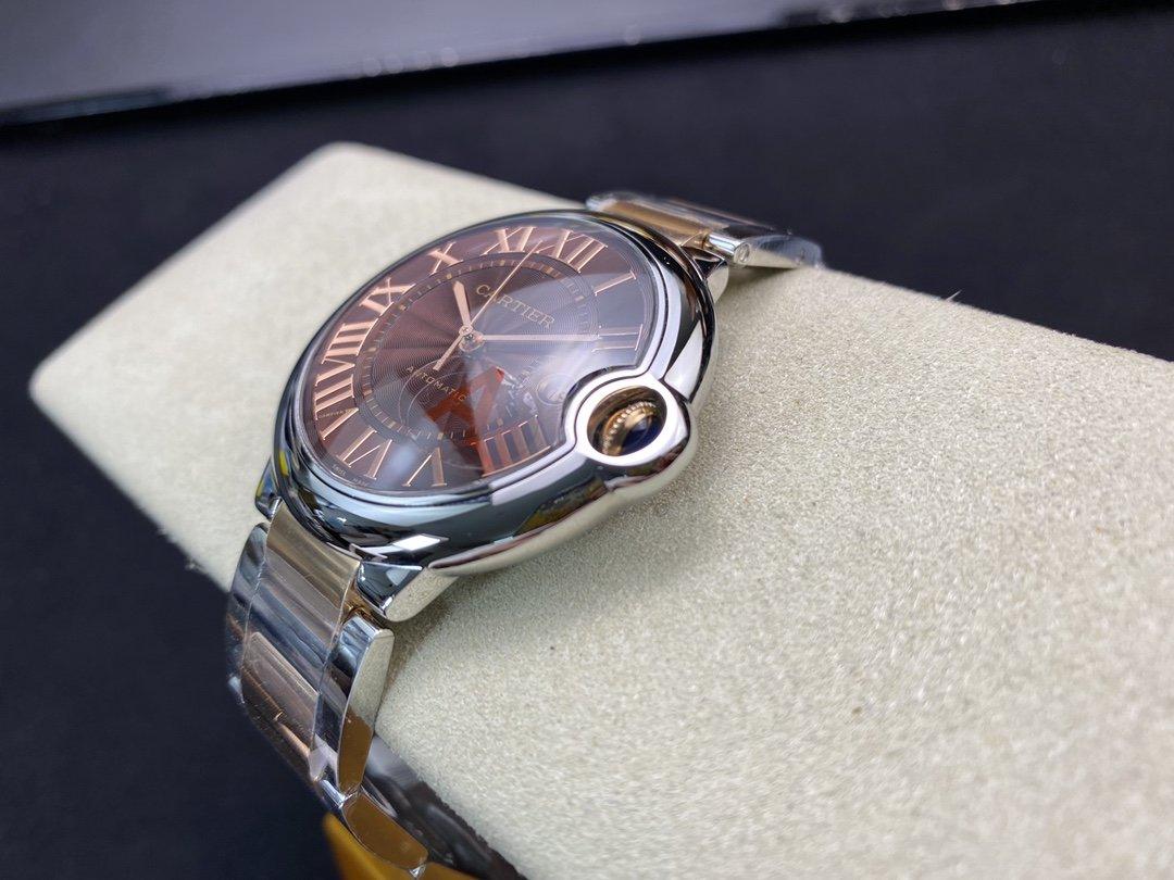 V6廠手錶仿表卡地亞咖啡色藍氣球42MM,N廠手錶