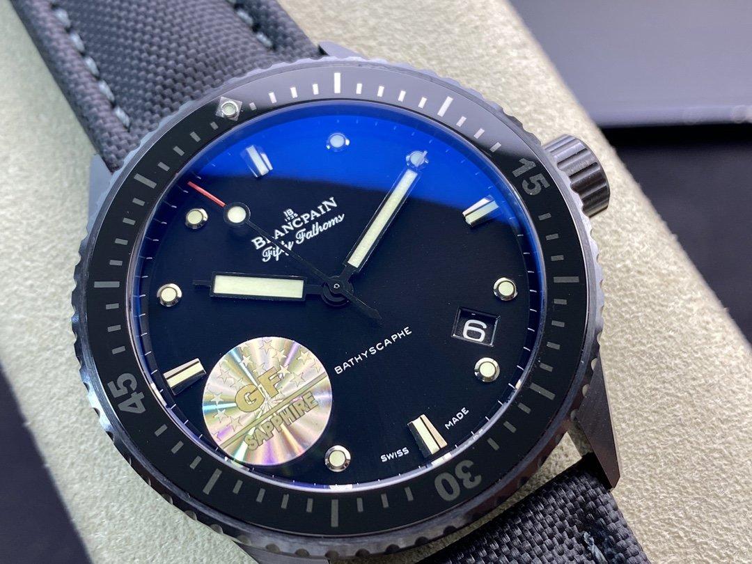 GF廠手錶高仿表寶珀黑面五十尋43.6mm複刻手錶,N廠手錶