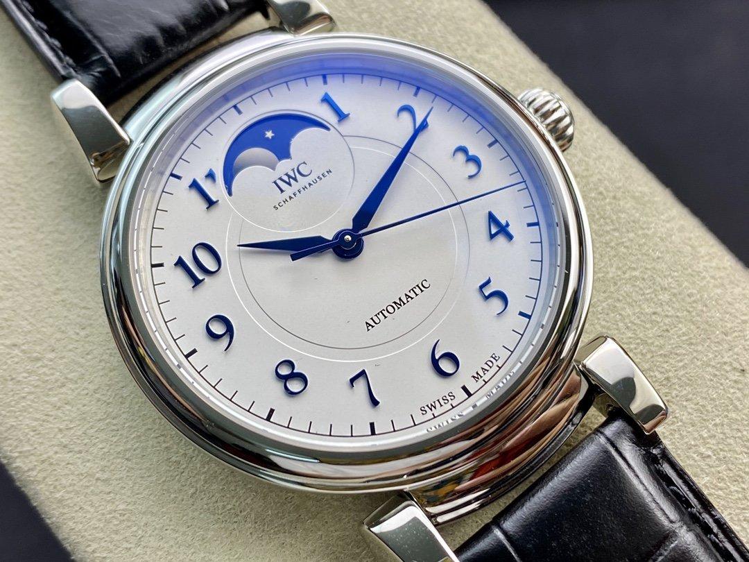 AI廠手錶仿表萬國IWC 達文西經典月相腕表,N廠手錶