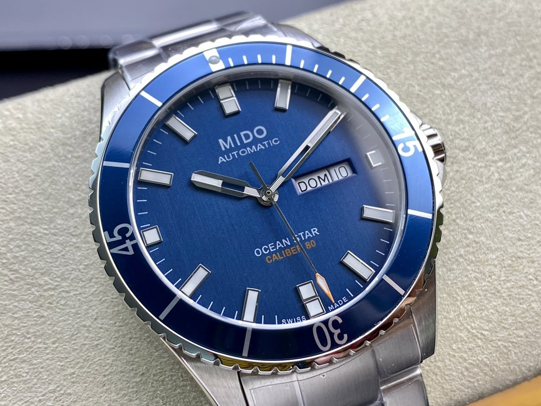 原單MIDO美度領航者海軍藍M026.430.22.051.00男士機械手表,N廠手錶