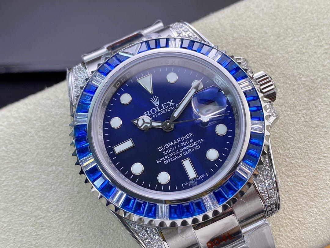 渣男同款仿表勞力士滿鑽藍水鬼複刻表,N廠手錶