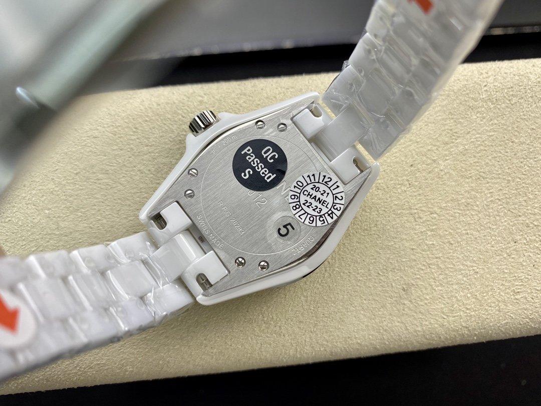 XF廠手錶仿表香奈兒J12系列黑白雙絕33mm石英機芯複刻手錶,N廠手錶