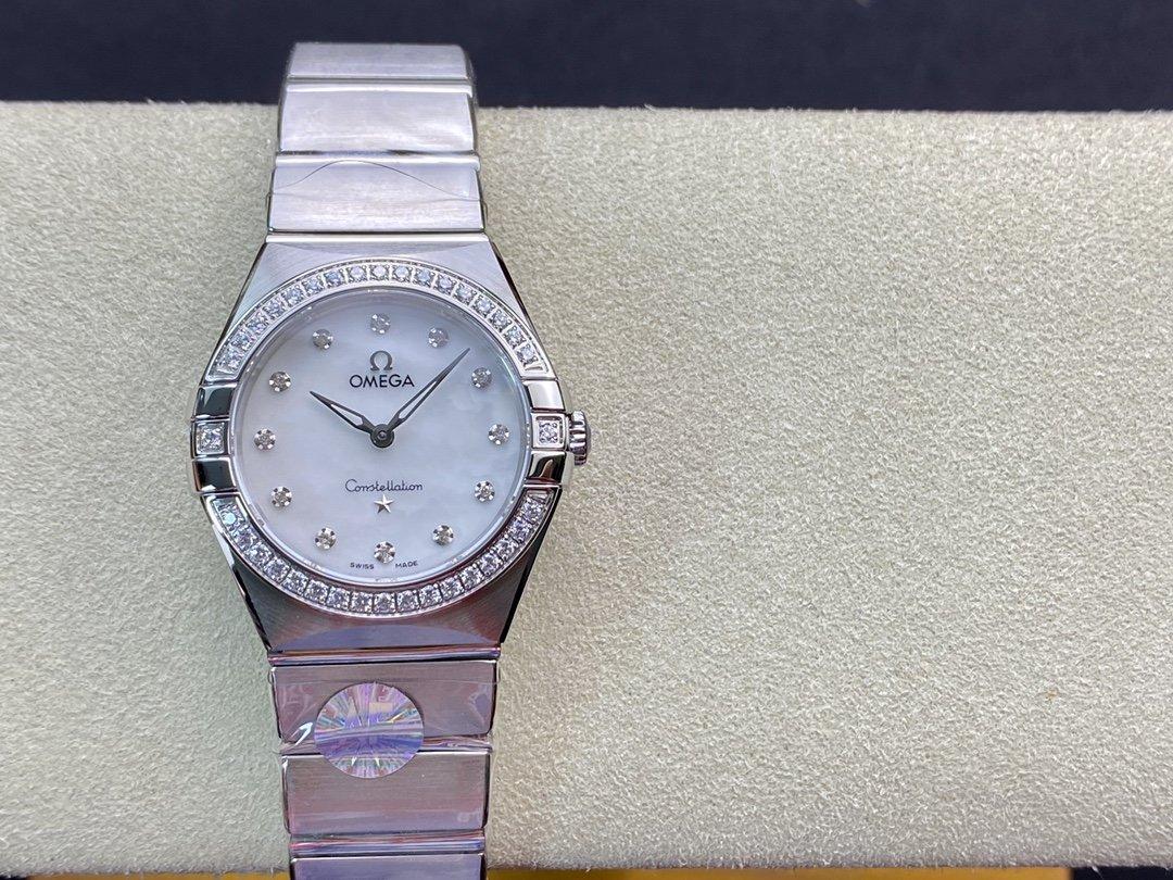AF廠手錶仿表歐米茄星座系列28mm石英腕表,N廠手錶