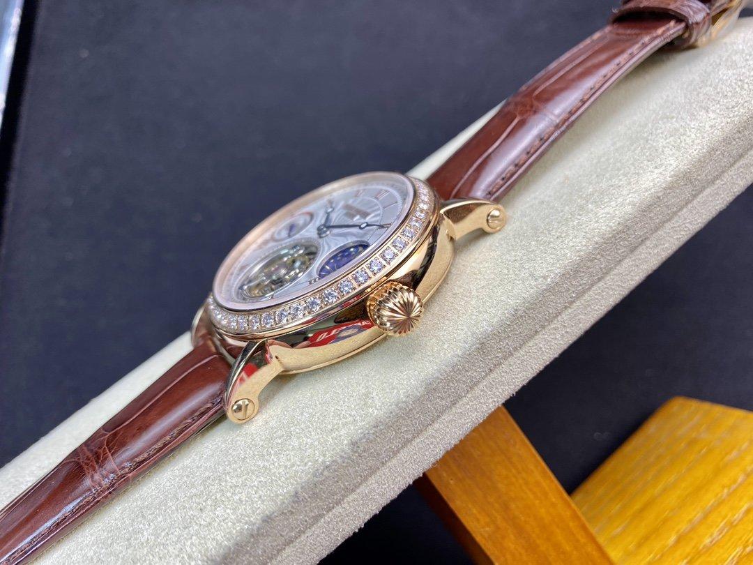 仿表百達翡麗動能顯示月相星辰頂級手動同軸陀飛輪機芯,N廠手錶