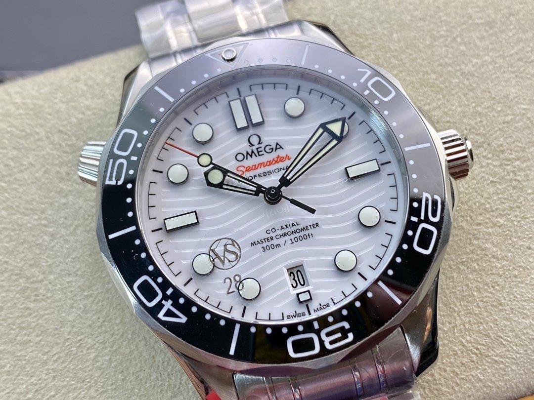 VS廠手錶仿表歐米茄波浪紋海馬300米系列8800機械複刻手錶,N廠手錶