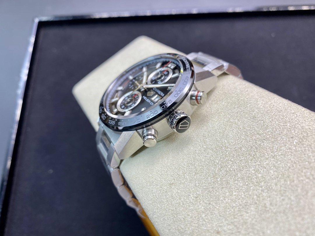 XF廠手錶43mm泰格豪雅卡萊拉01計時碼表仿表,N廠手錶