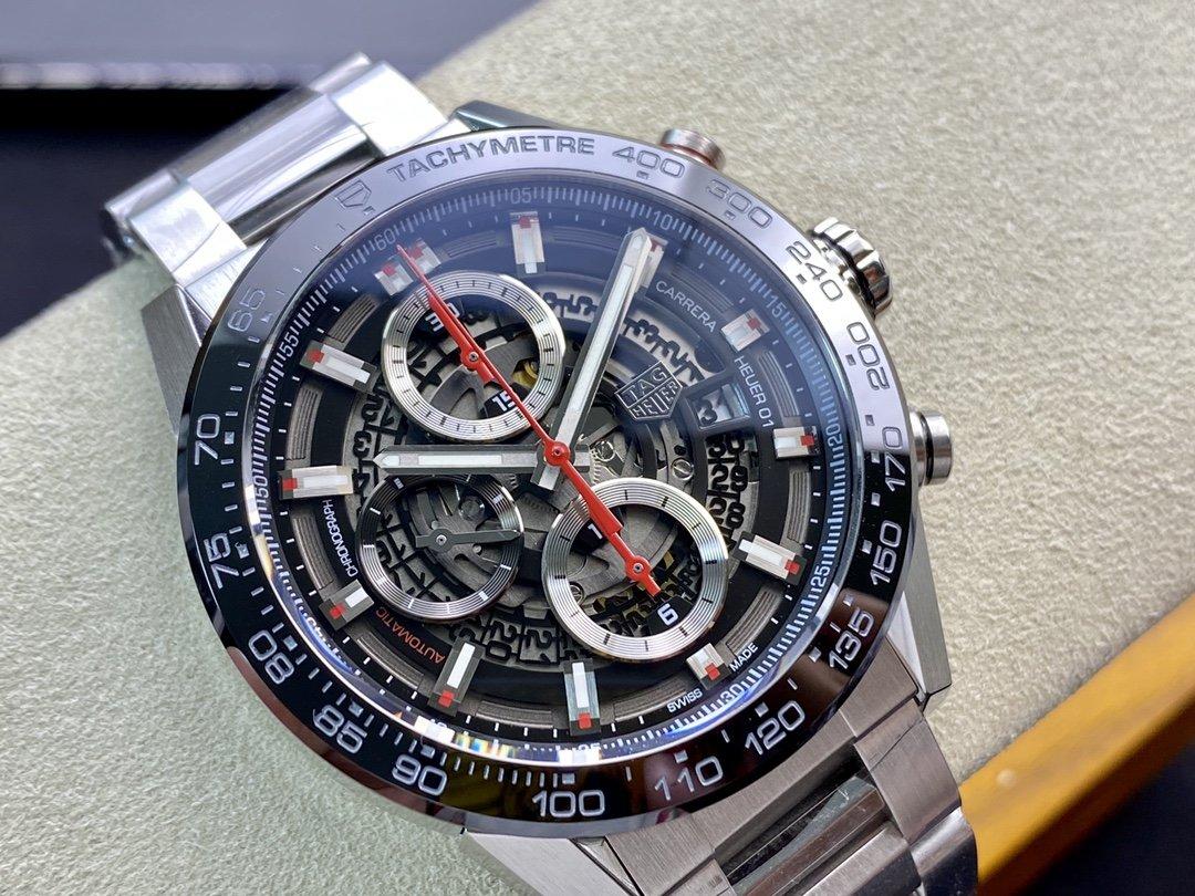 泰格豪雅XF廠手錶卡萊拉01計時碼表43MM仿表,N廠手錶