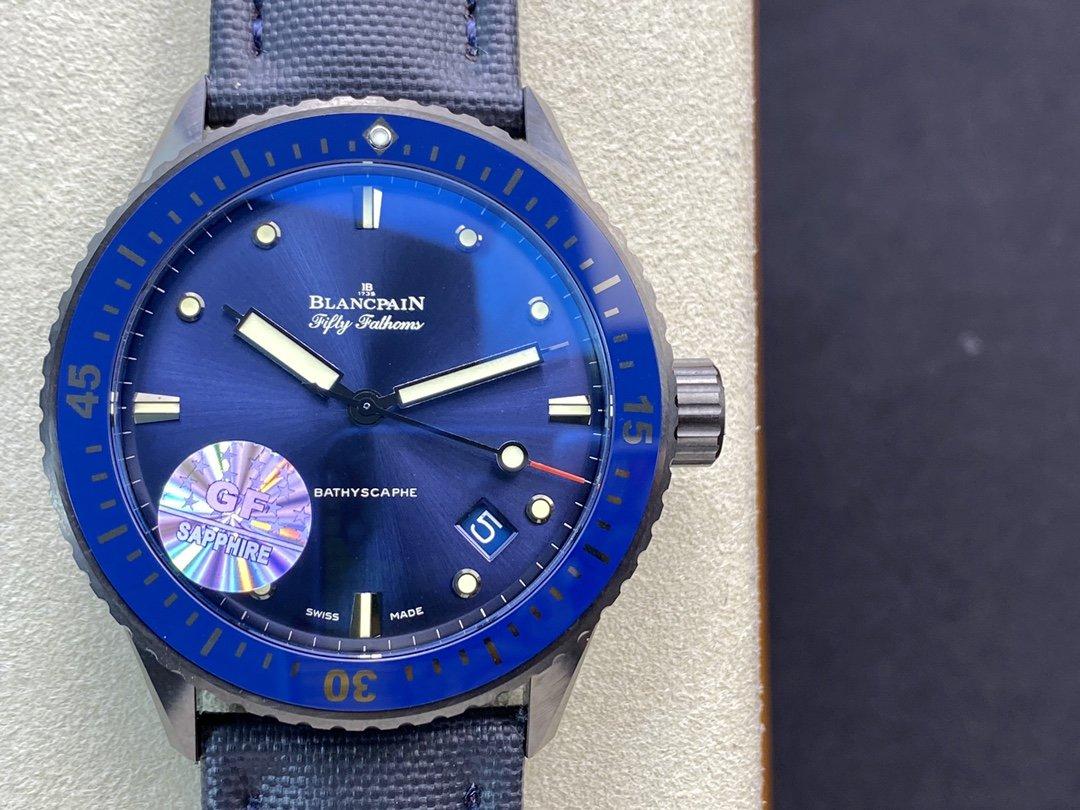 GF廠手錶高仿寶珀藍面五十尋仿表,N廠手錶