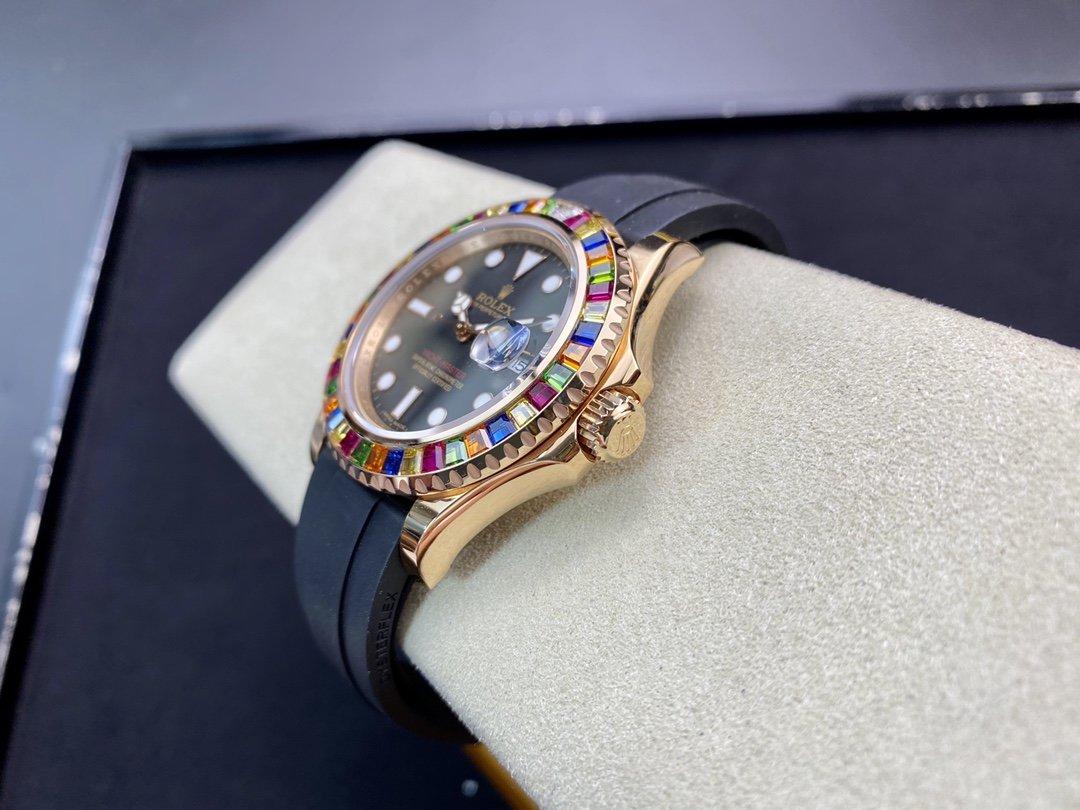 勞力士Rolex 皇帝版神器金遊艇Rolex yacht Master 116695SATS 糖豆GM廠手錶仿表,N廠手錶