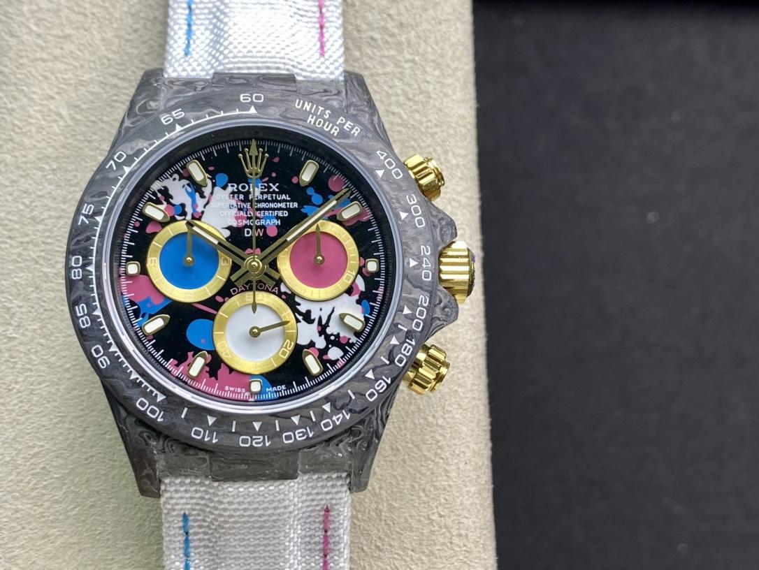 JH Factory高仿勞力士宇宙計時迪通拿系列之碳纖維定制版複刻手錶