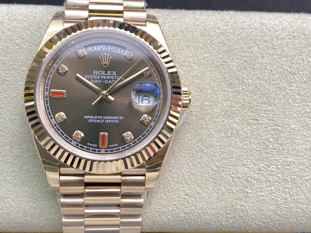 EW Factory力作V2版高仿勞力士Rolex星期日志型3255機芯40mm仿表