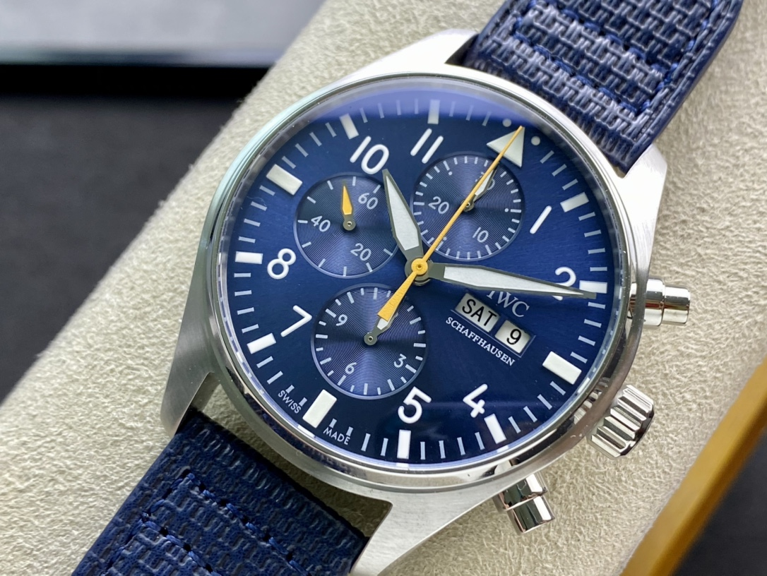 新品複刻萬國黃色計時針飛行員計時小王子仿表
