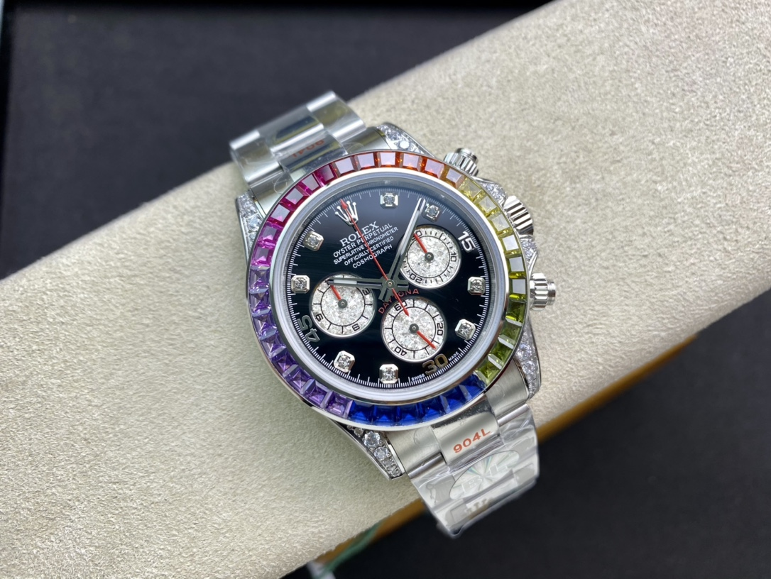 BL廠手錶仿表勞力士彩虹迪全新迪通拿型號:116599RBOW-116598RBOW-116595RBOW一比一複刻手錶