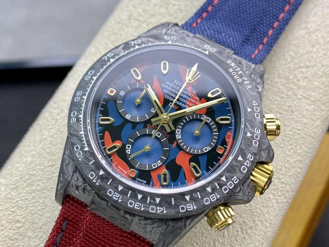 JH Factory仿表勞力士碳纖維定制版宇宙計時迪通拿系列高仿手錶