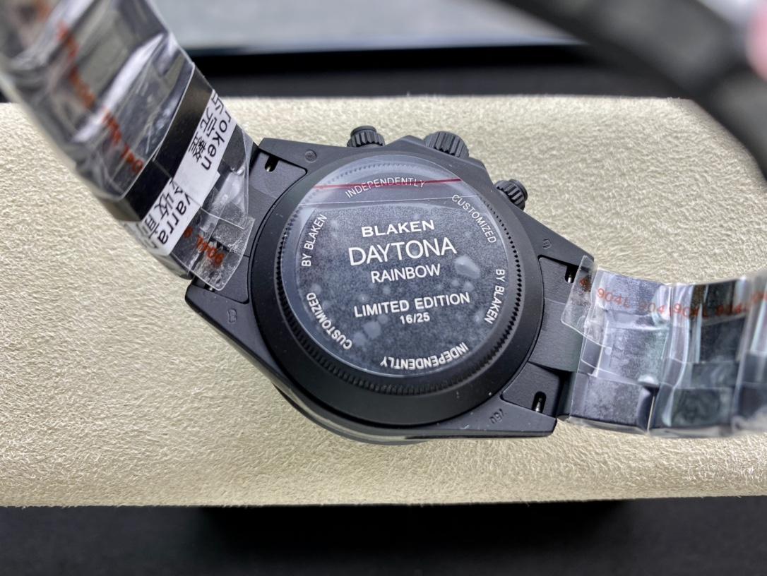 仿表Blacken改裝表TW廠手錶高仿勞力士碳黑鋼皇改裝迪通拿系列複刻手錶