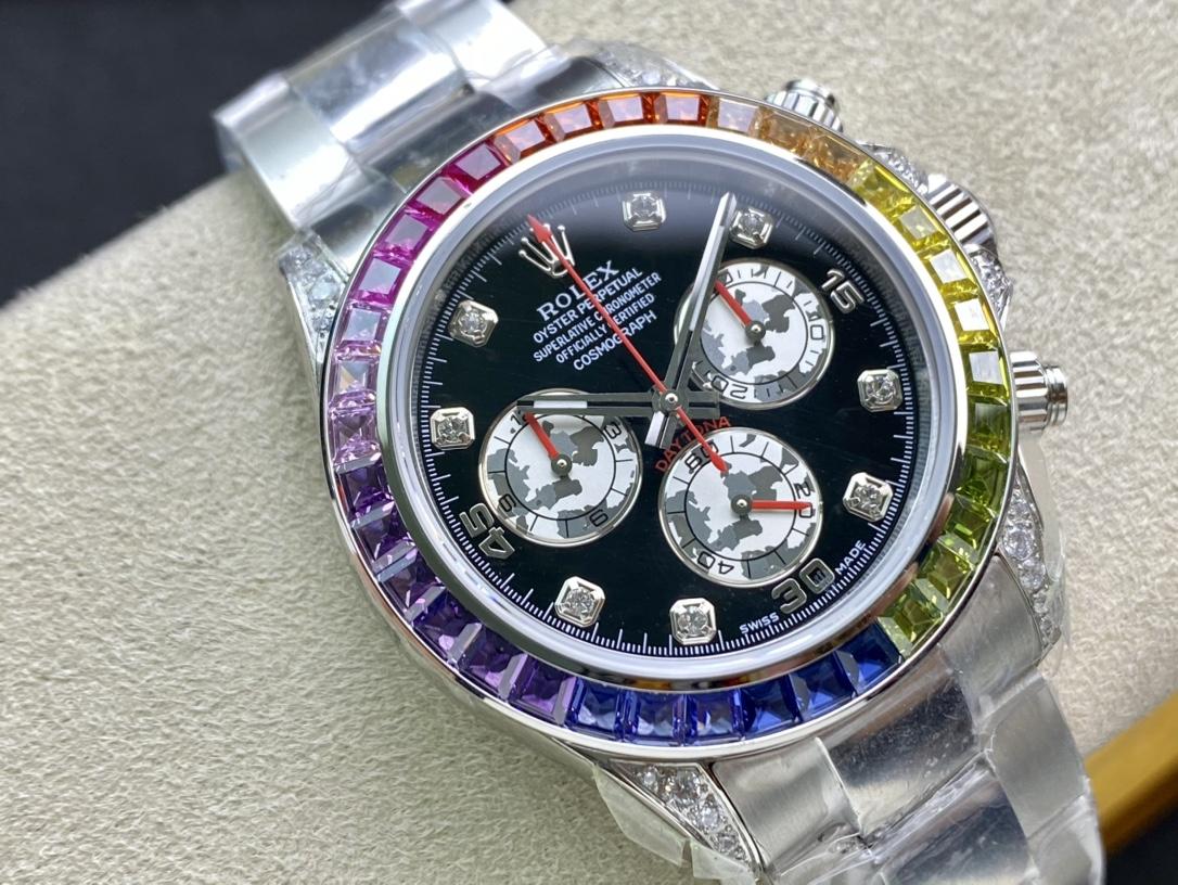 仿表勞力士蠔式恒動宇宙計型迪通拿彩虹迪JH廠手錶複刻手錶