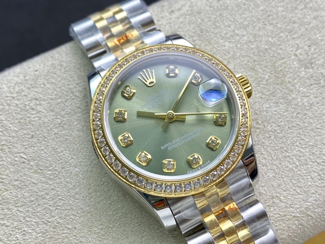 WF廠手錶複刻表勞力士Rolex女表蠔式日誌型31mm腕表,N廠手錶