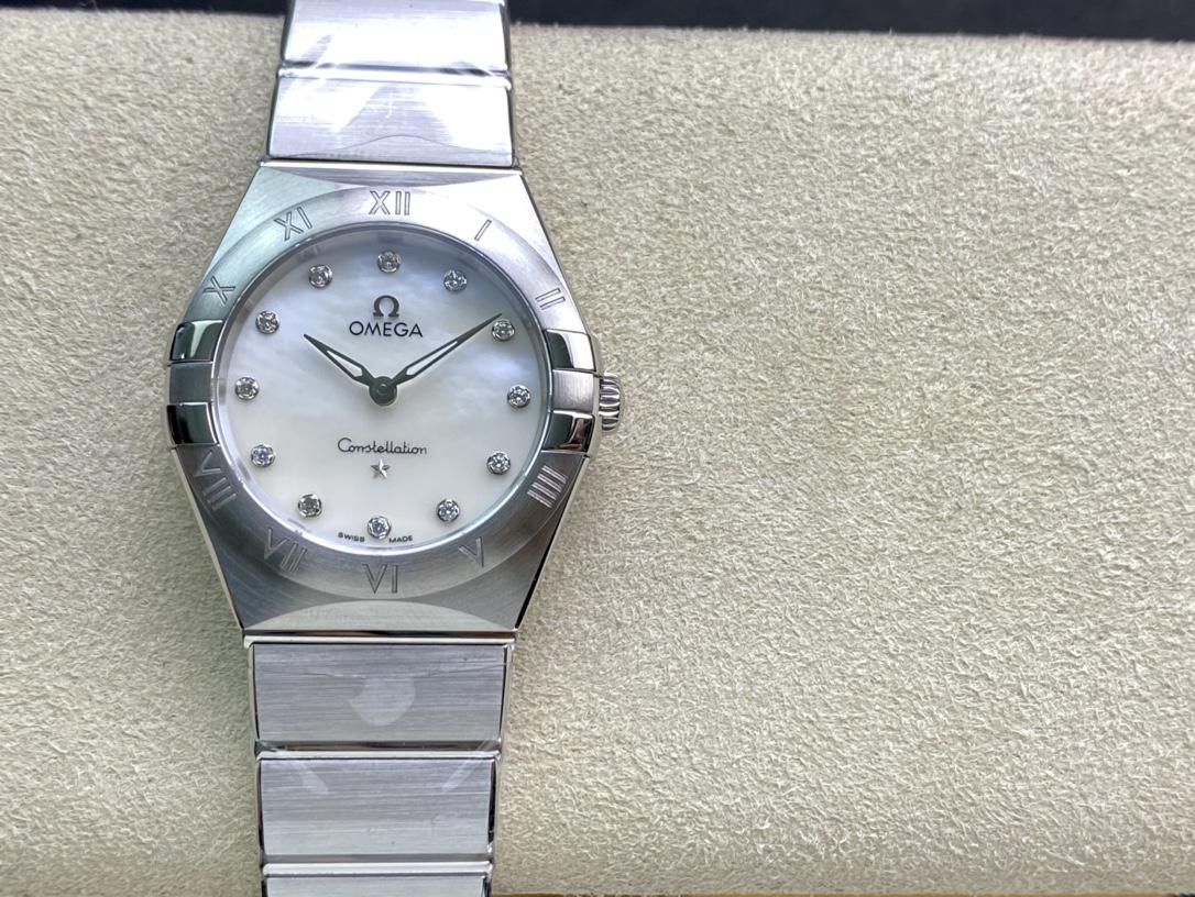 SSS厂复刻表欧米茄星座28mm星座石英腕表,N厂手表