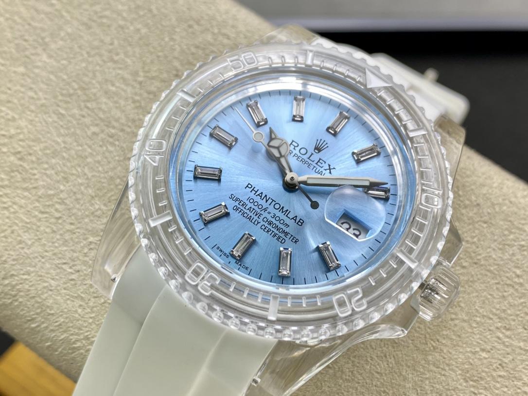 親民版高仿勞力士透明水鬼高仿手錶