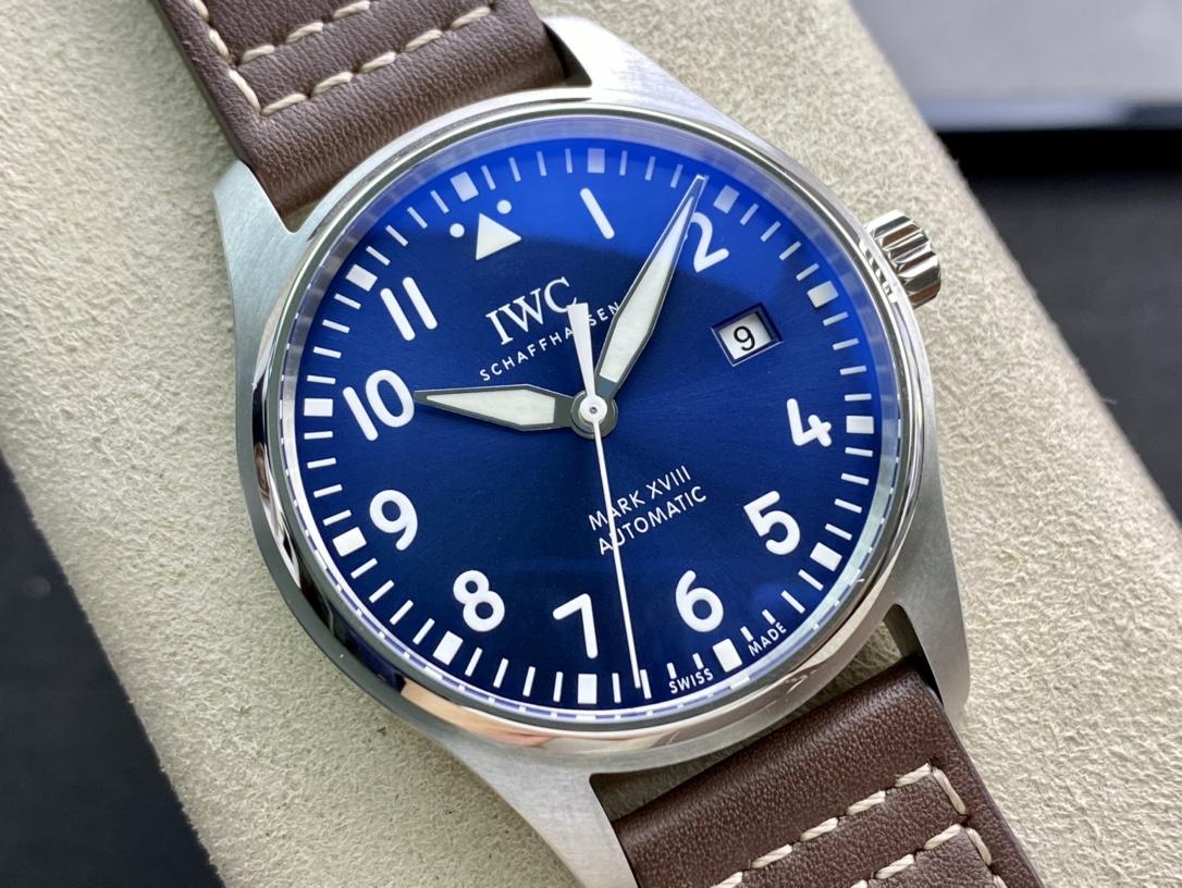 圖為瑞士真芯ETA2892版本V7廠手錶仿表萬國IWC飛行員馬克十八系列完美副本,N廠手錶