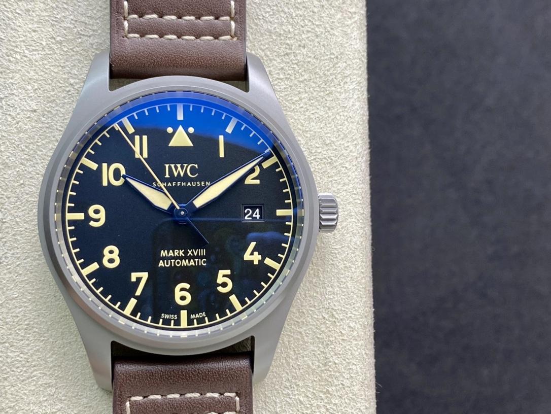 V7廠手錶仿表萬國IWC馬克系列旗艦版鈦殼馬克十八IW327006,N廠手錶