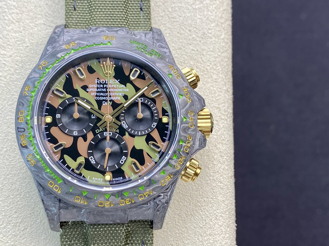 仿表劳力士宇宙计时迪通拿系列之碳纤维定制版4130机芯JH厂手表,N厂手表
