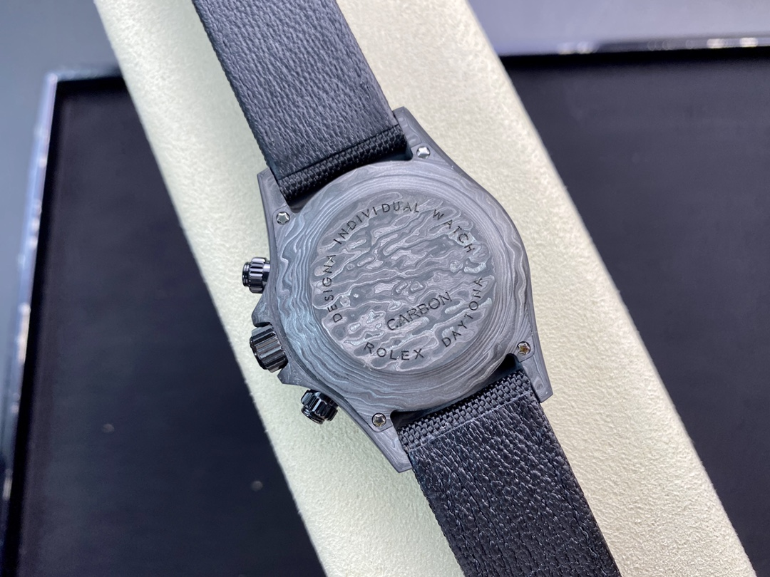 仿表劳力士JH厂手表宇宙计时迪通拿系列之碳纤维定制版4130机芯,N厂手表