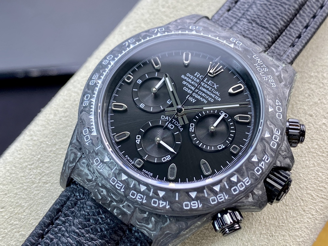 JH厂手表仿表劳力士宇宙计时迪通拿系列之碳纤维定制版4130机芯,N厂手表