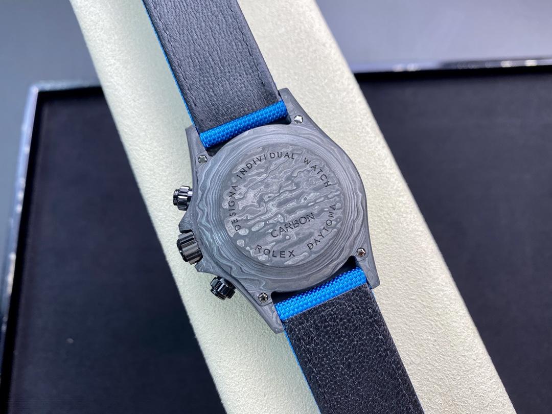 JH廠手錶仿表勞力士宇宙計時迪通拿系列之碳纖維定制版4130機芯,N廠手錶