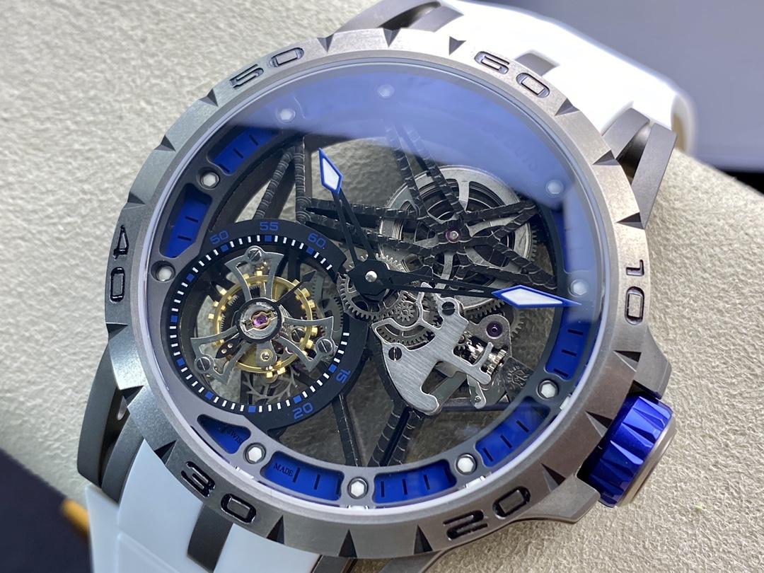BBR廠手錶羅傑杜彼王者歸來唯一鈦金屬表殼型號RDDBEX0479陀飛輪腕表,N廠手錶