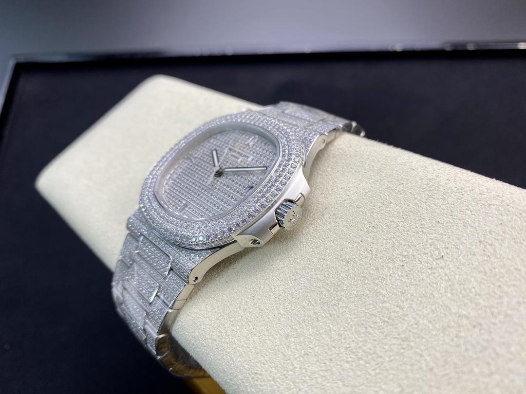 仿表PPF廠手錶V4版百達翡麗滿鑽超級鸚鵡螺高仿表,N廠手錶