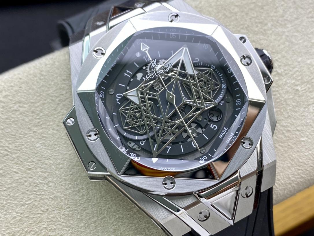 Hublot仿表恒寶/宇舶計時機械款劍鋒全新Big Bang Sang Bleu II 刺青腕表,N廠手錶