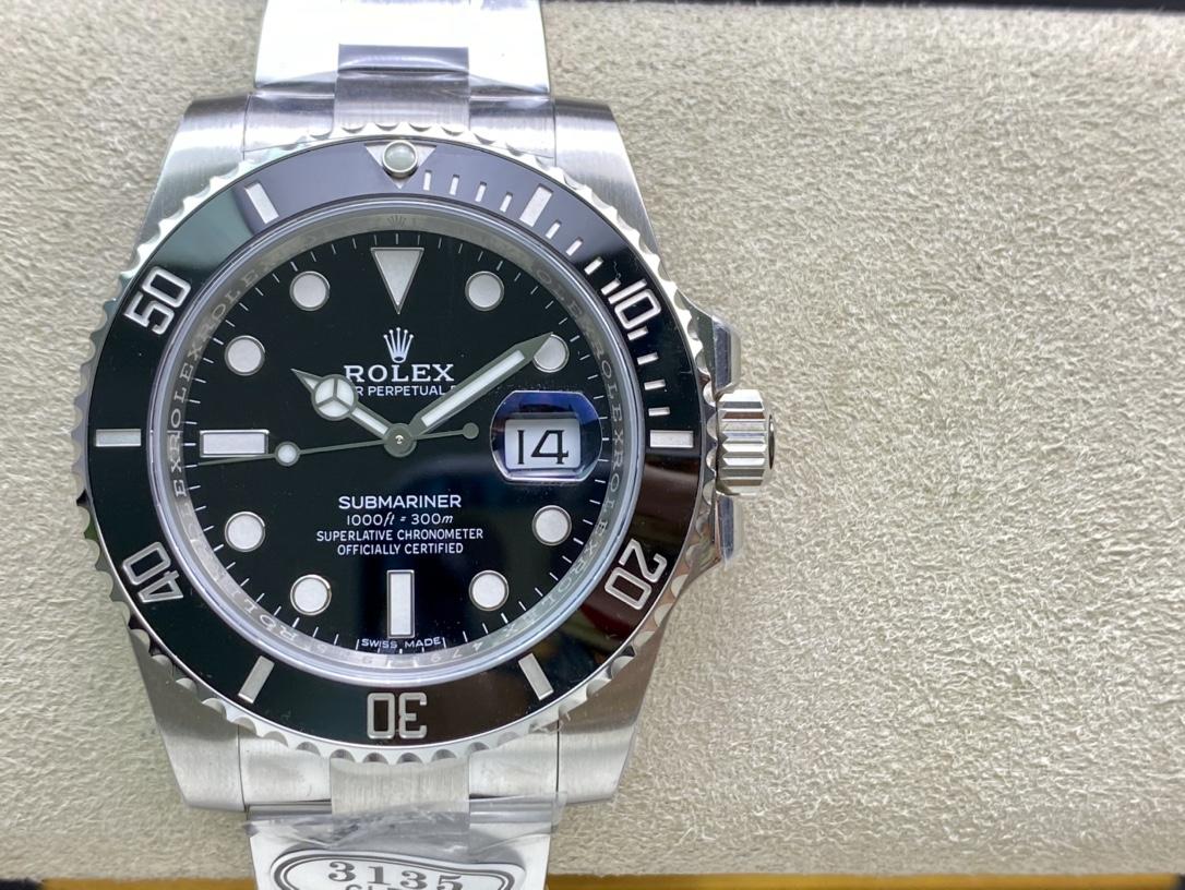 CLEAN廠C廠手錶仿表勞力士116610黑水鬼,N廠手錶
