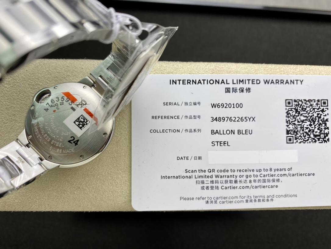 V6 Factory卡地亞粉氣球藍氣球33MM一表一碼一卡,N廠手錶