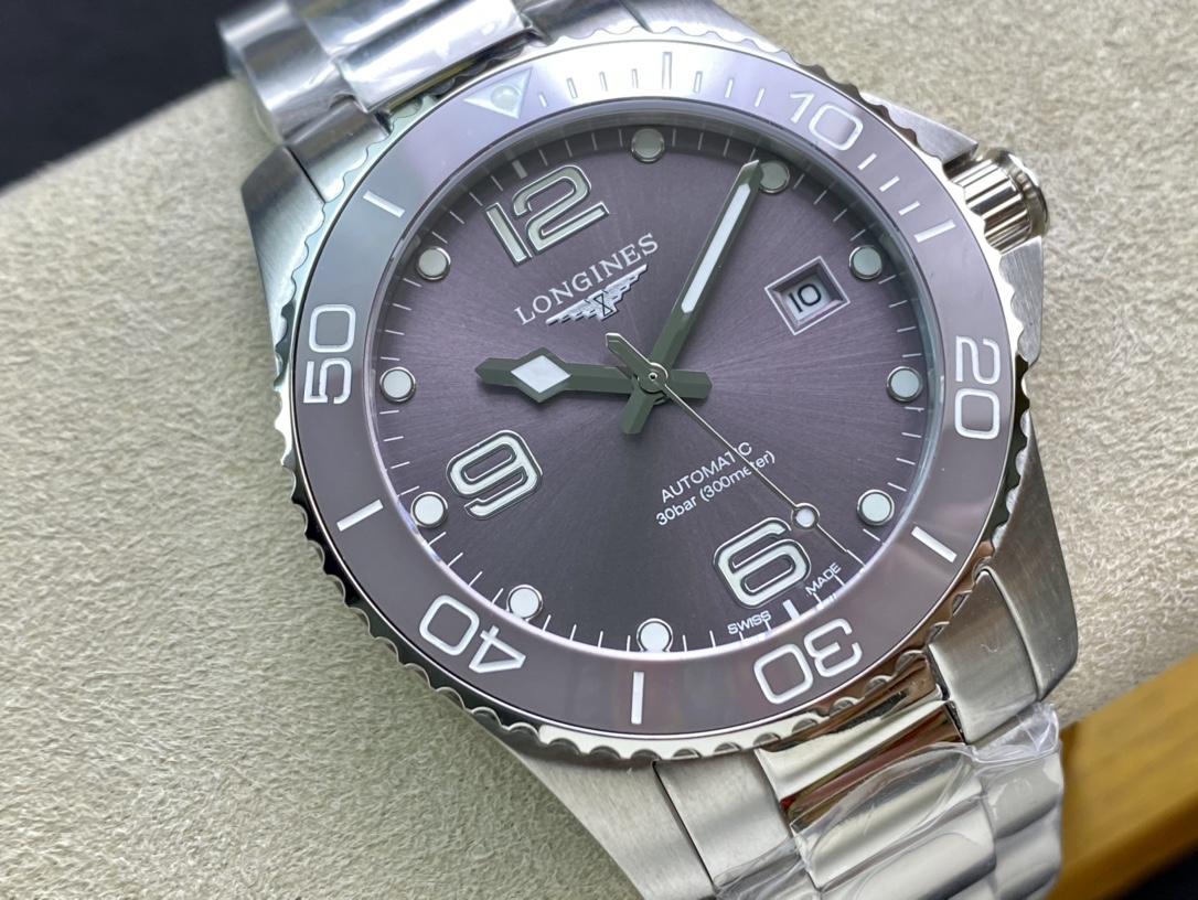 仿表浪琴灰盤康卡斯系列41mm 進口機械機芯,N廠手錶