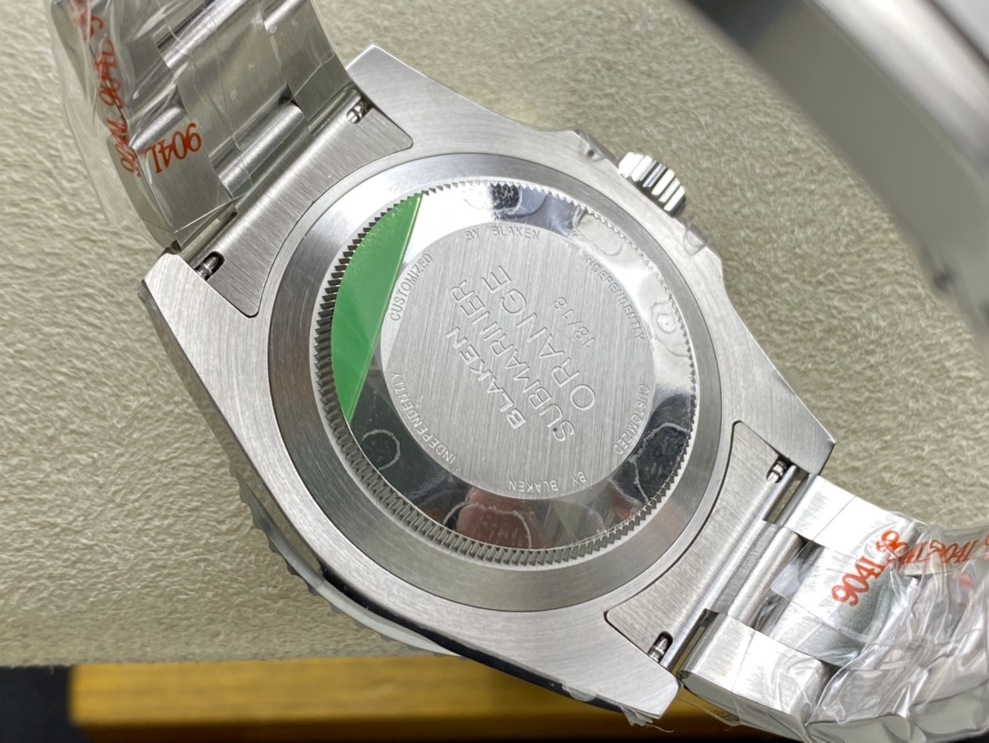 稀缺款BLAKEN高定版改裝專案勞力士SUBMARINER經典紅、藍、橙三色水鬼,N廠手錶