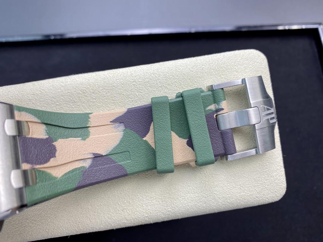 "JF廠手錶仿表愛彼AP26400 綠陶""迷彩""系列,N廠手錶"