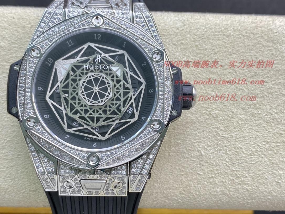 """手錶評測仿表HB 全新""""豪華版""""恒寶 宇舶Big Bang 刺青 滿鑽腕表"""