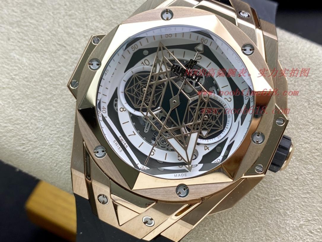 親民版石英透底款仿表恒寶刺青大師設計Hublot劍鋒石英計時款,另可有機械選擇,N廠手錶