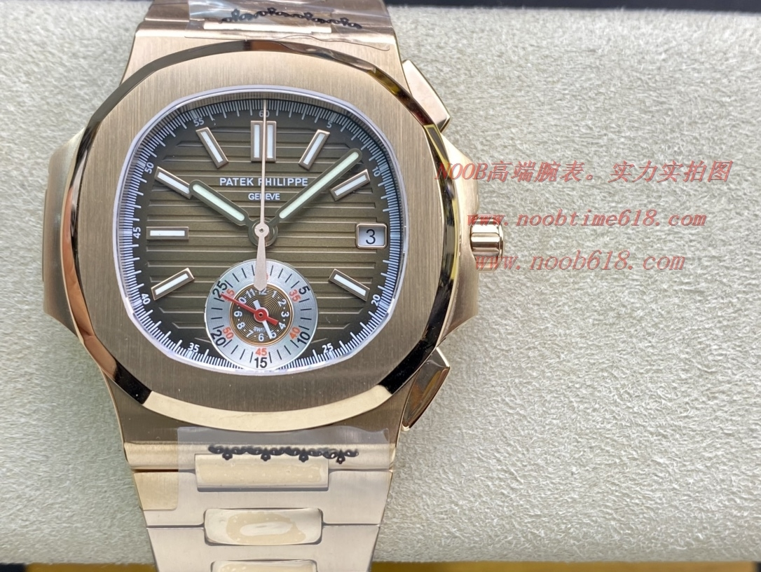 3K工廠百達翡麗鸚鵡螺5980/1A-014多功能計時腕表V2版真小秒,N廠手錶