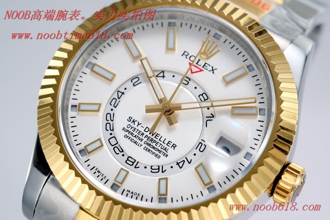 TW廠仿錶勞力士Rolex Sky-Dweller 縱航者型外圈月份能轉動,N廠手錶