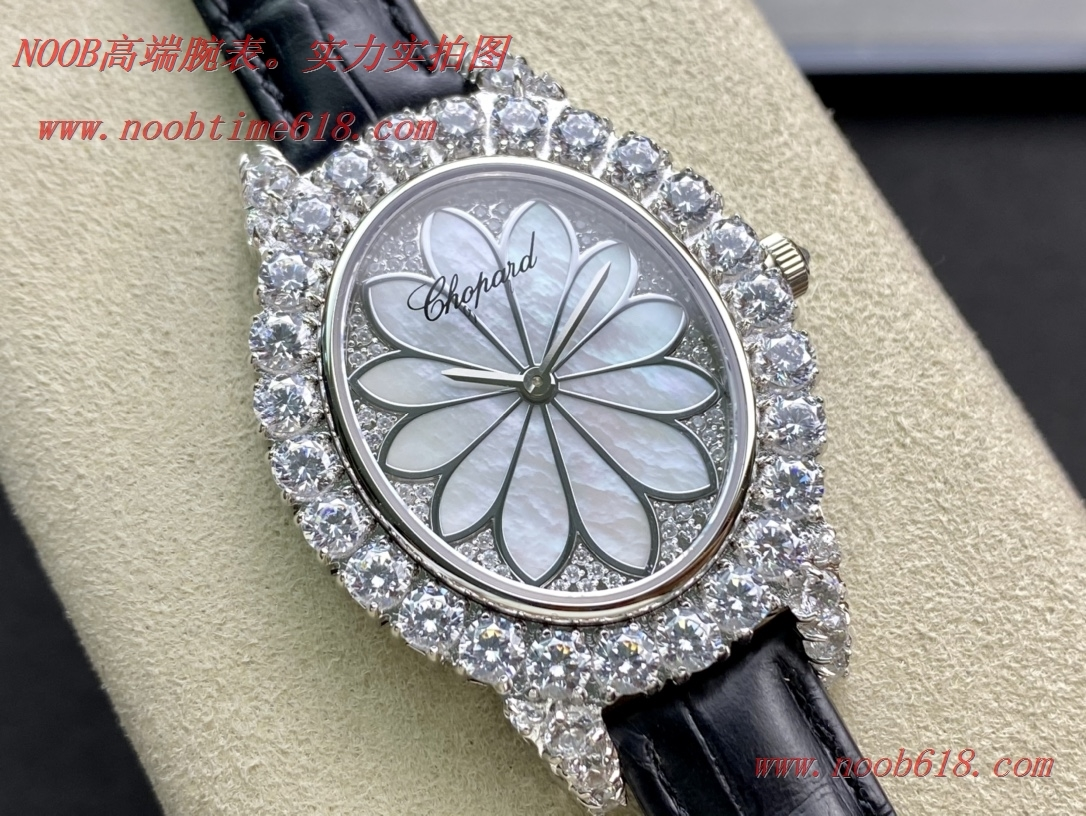 FINE IMITATION WATCH 蕭邦滿鑽女表 L'HEURE DU DIAMANT MEDIUM OVAL ,N廠手錶