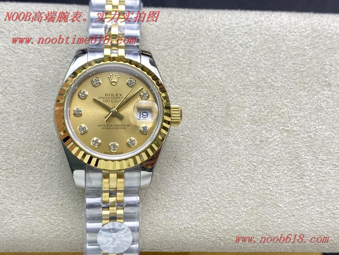 仿錶WF廠手錶勞力士女裝日誌型28㎜日誌型279174-0009,N廠手錶
