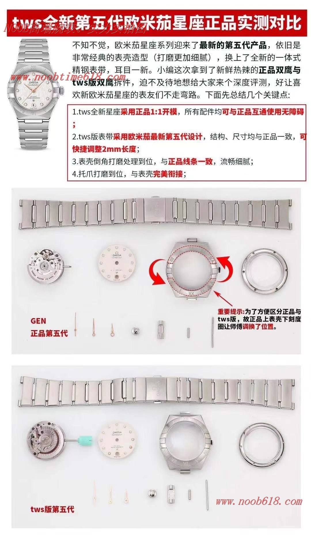 仿錶第五代歐米茄星座曼哈頓29mm女款,N廠手錶 TWS Factory
