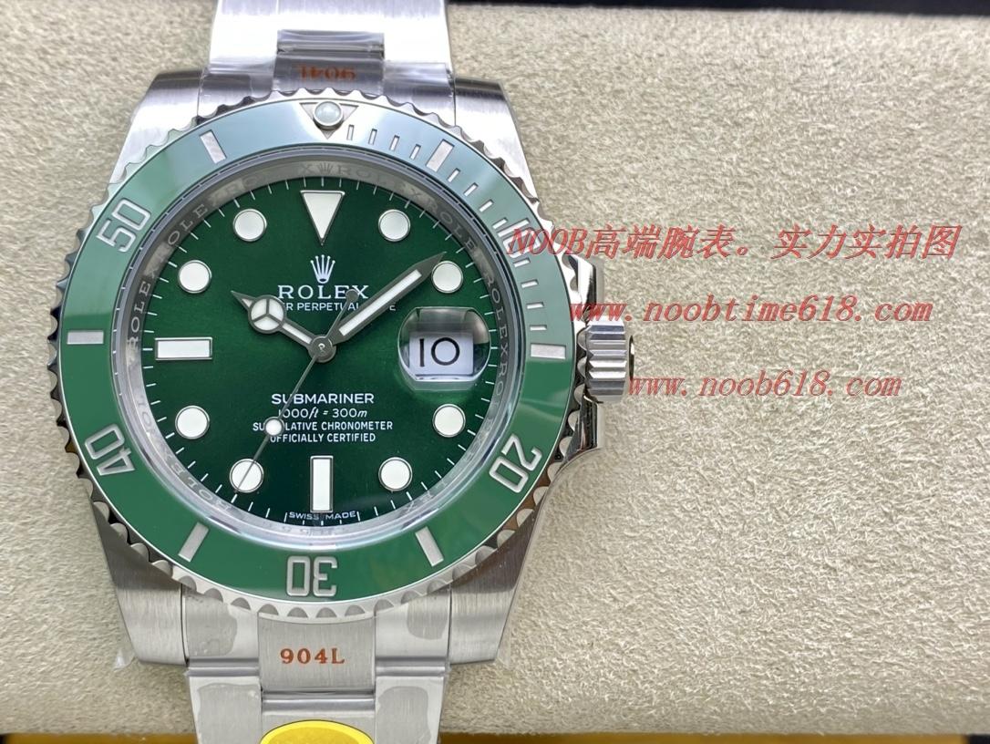 NOOB廠手錶官方旗艦店新品勞力士黑水鬼綠水鬼V12版本SUB終極版,N廠手錶